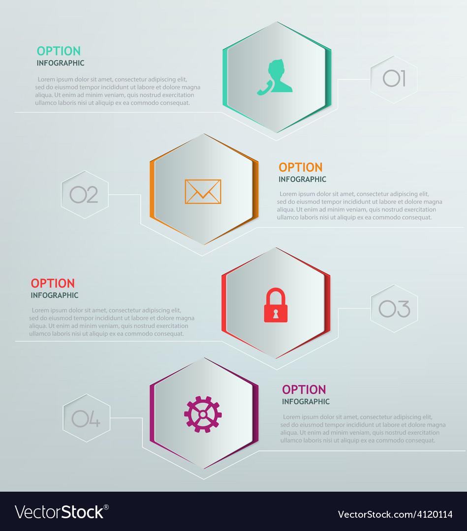 Hexagon infographic vector | Price: 1 Credit (USD $1)