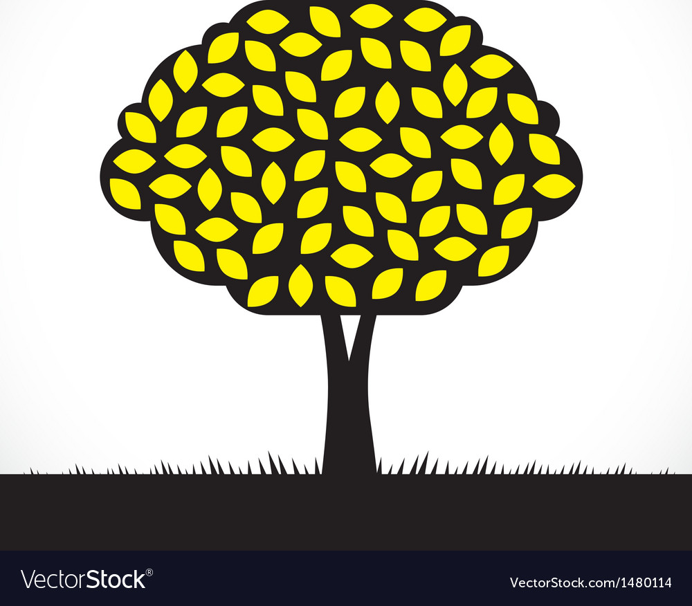 Lemon tree vector | Price: 1 Credit (USD $1)