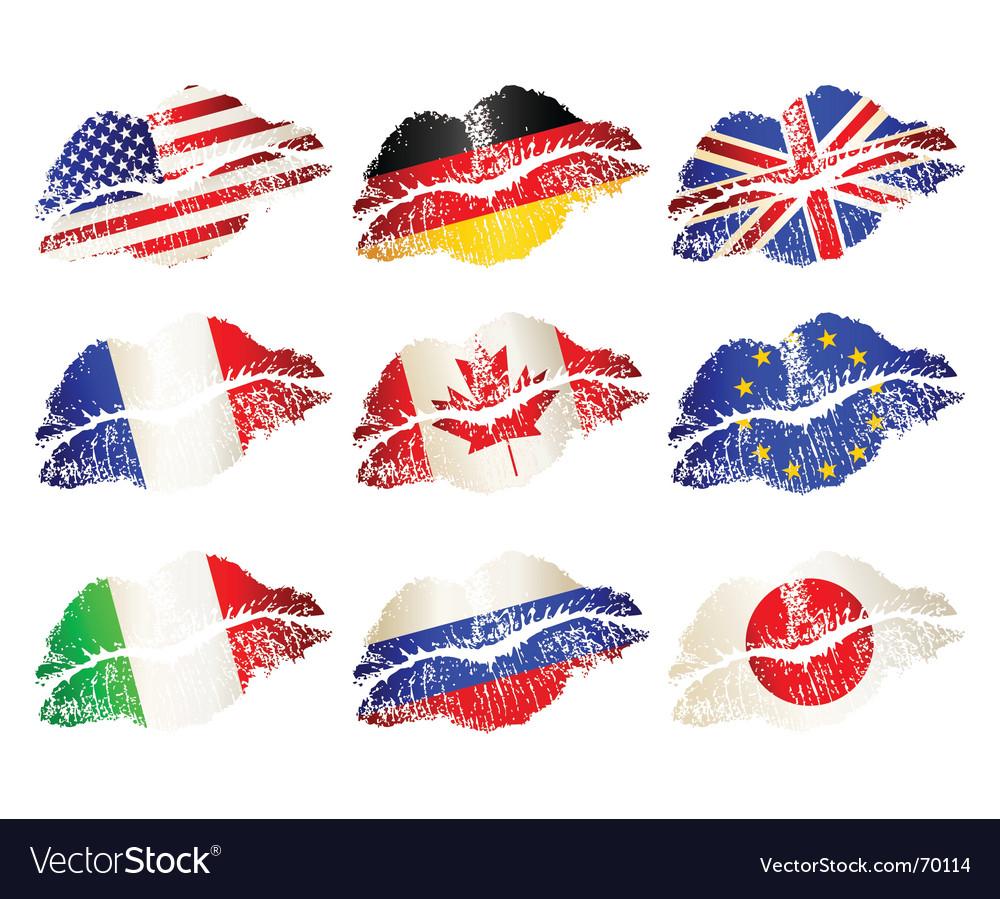 Lip flags vector | Price: 1 Credit (USD $1)