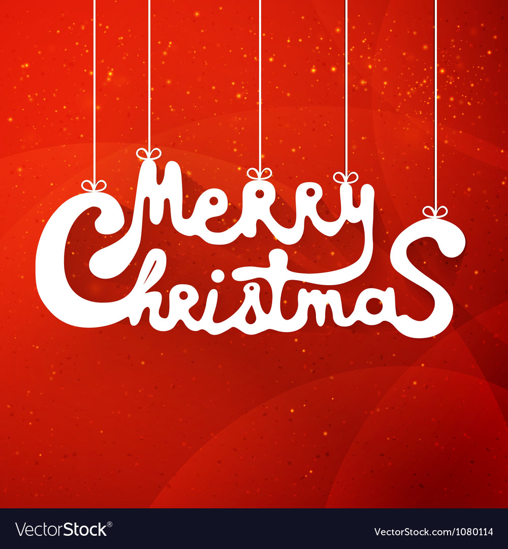 Merry christmas hand lettering applique background vector | Price: 1 Credit (USD $1)