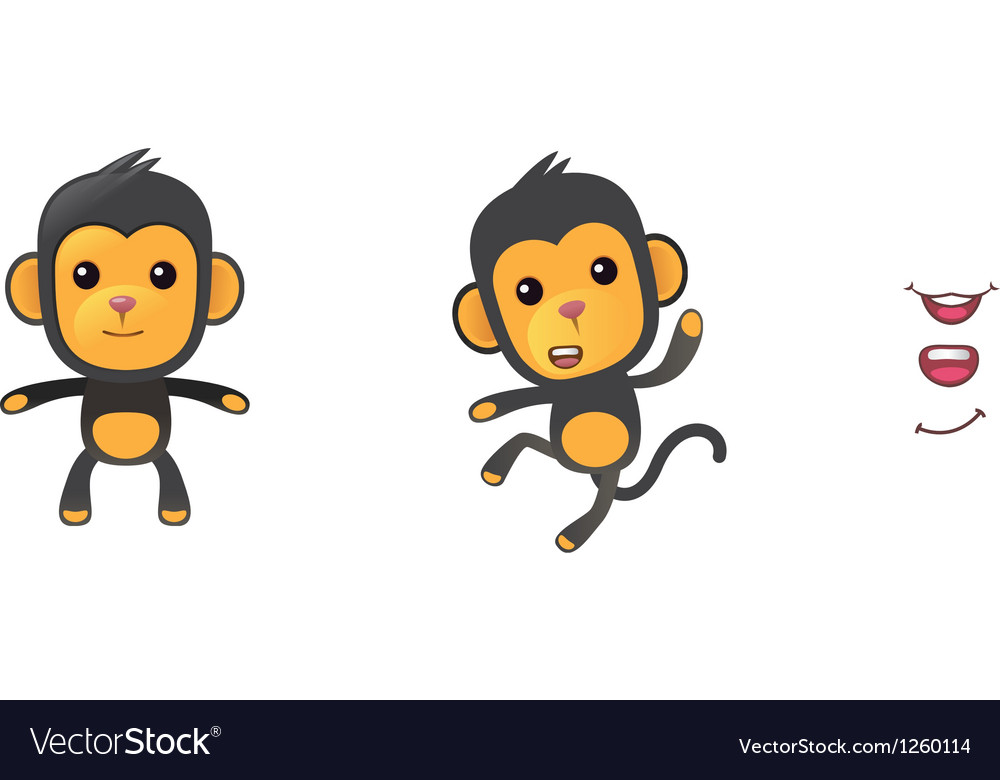 Monkey1 vector | Price: 3 Credit (USD $3)