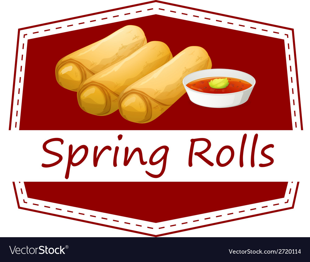 Spring rolls vector | Price: 1 Credit (USD $1)
