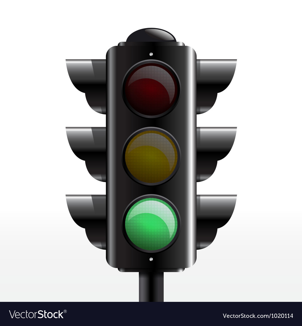 Traffic light green vector | Price: 1 Credit (USD $1)