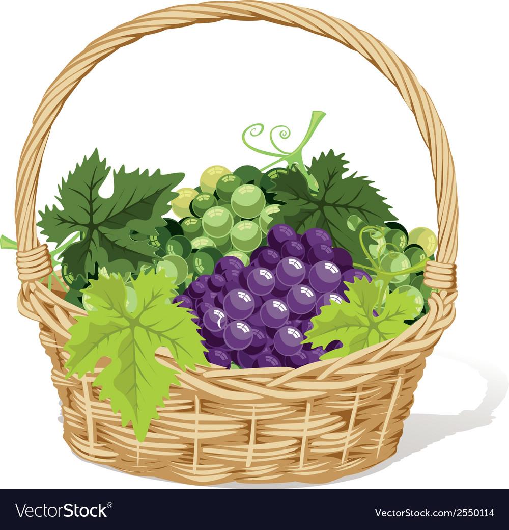 Wine basket vector | Price: 1 Credit (USD $1)
