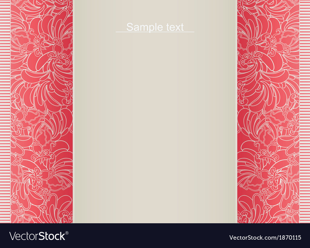 Abstract floral template for card vector | Price: 1 Credit (USD $1)