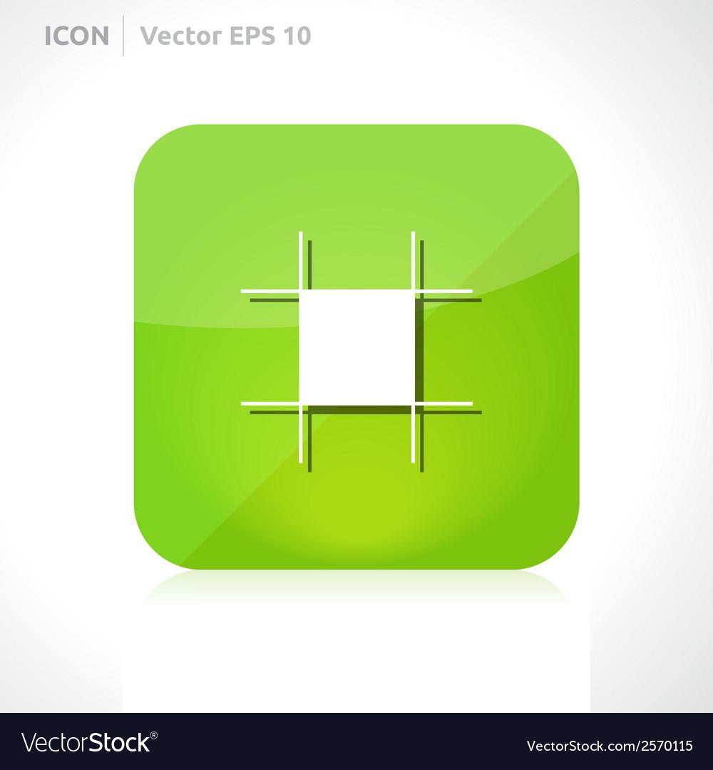 Artboard tool icon vector | Price: 1 Credit (USD $1)