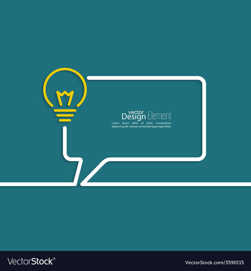 Bulb light idea vector | Price: 1 Credit (USD $1)