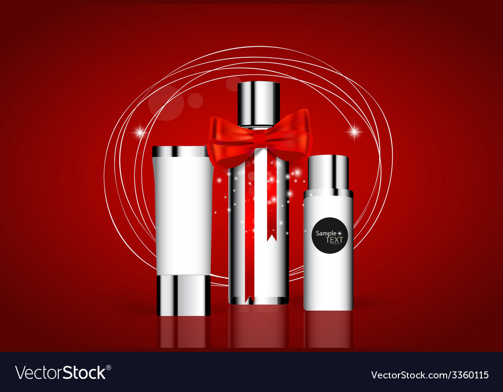Cosmetics packaging holiday gift vector | Price: 1 Credit (USD $1)