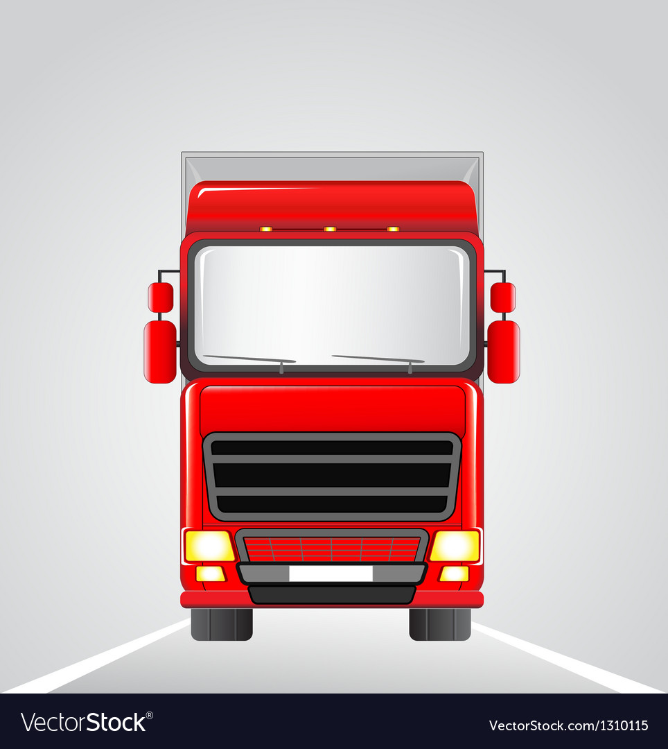 Delivery truck on the road vector | Price: 1 Credit (USD $1)
