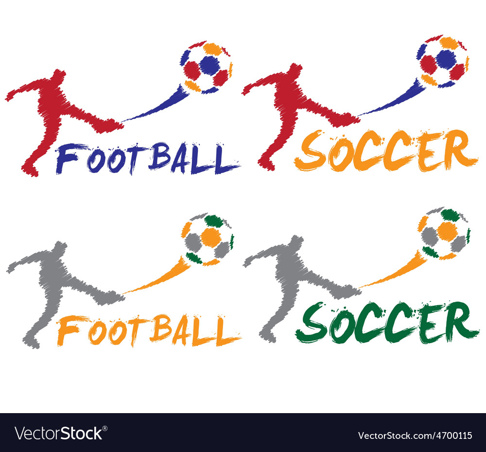 Football and soccer player vector   Price: 1 Credit (USD $1)