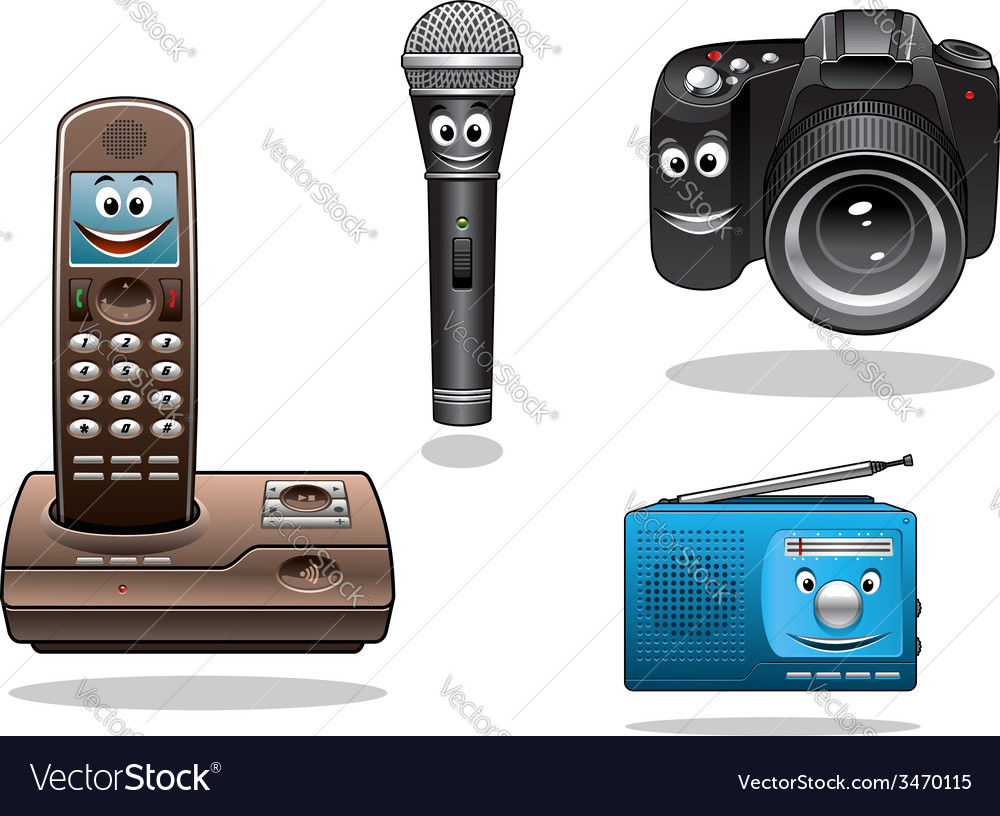 Gadgets and devices in cartoon style vector | Price: 1 Credit (USD $1)