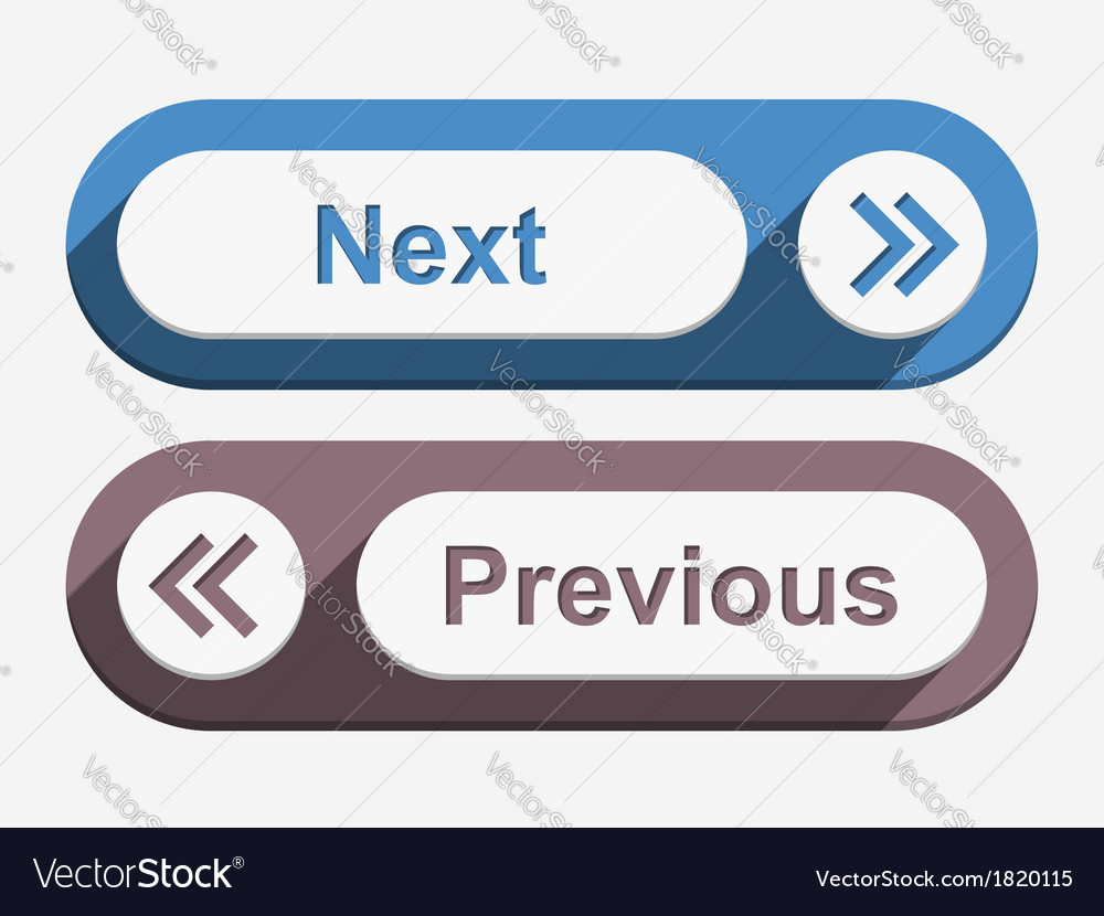 Next and previous buttons vector | Price: 1 Credit (USD $1)