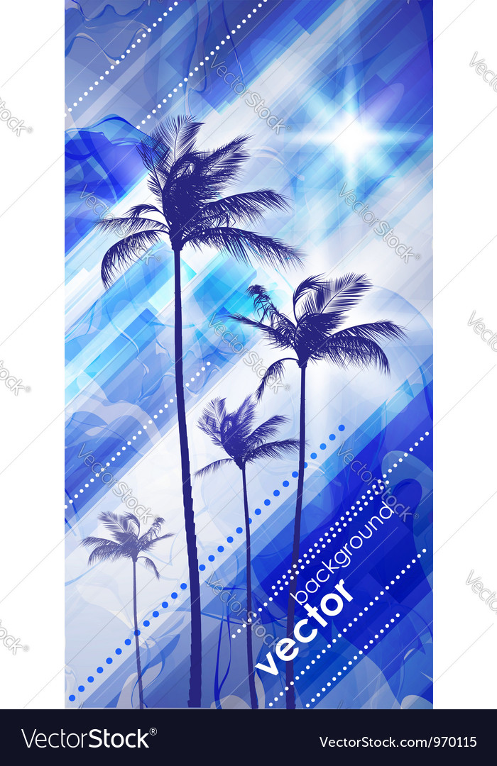Palms at sunset vector | Price: 1 Credit (USD $1)