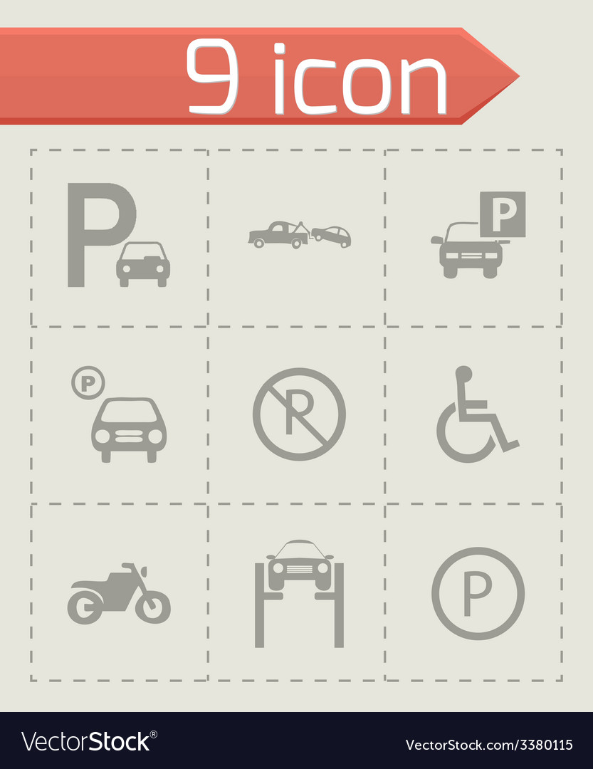 Parking icons set vector | Price: 1 Credit (USD $1)