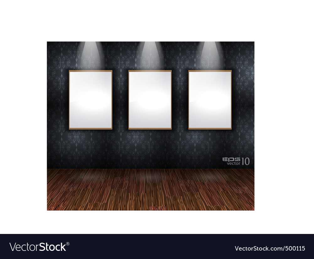 Showroom wall vector