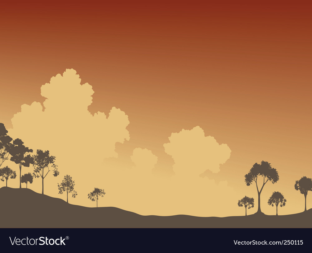 Trees and sky vector | Price: 1 Credit (USD $1)