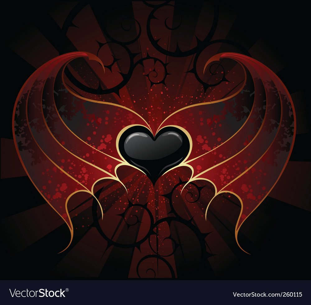 Vampire heart vector | Price: 1 Credit (USD $1)