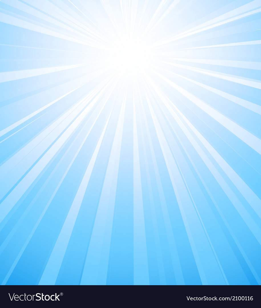 Blue summer sun light burst vector | Price: 1 Credit (USD $1)