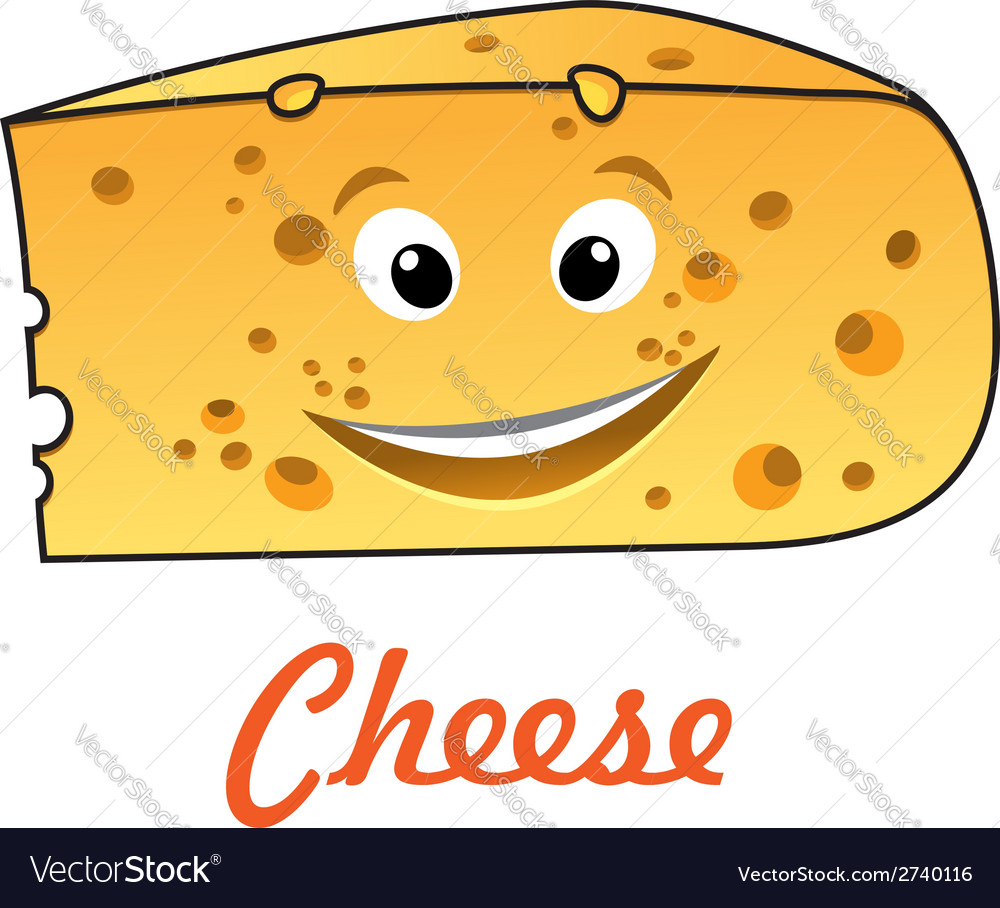 Cartoon cheese vector | Price: 1 Credit (USD $1)
