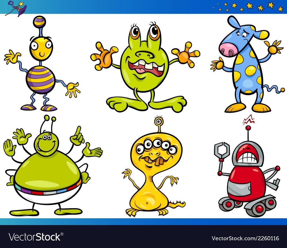 Cartoon fantasy characters set vector | Price: 1 Credit (USD $1)