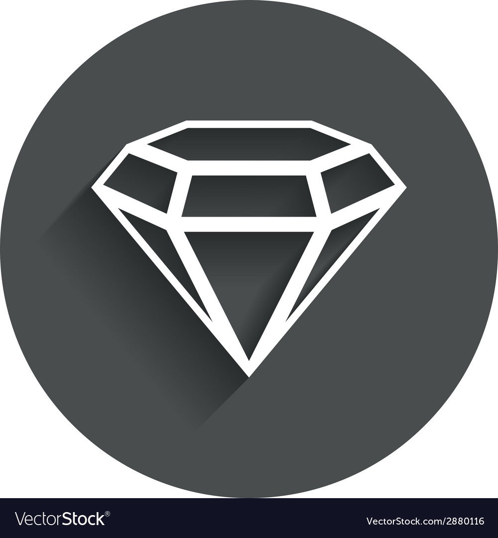 Diamond sign icon jewelry symbol gem stone vector | Price: 1 Credit (USD $1)