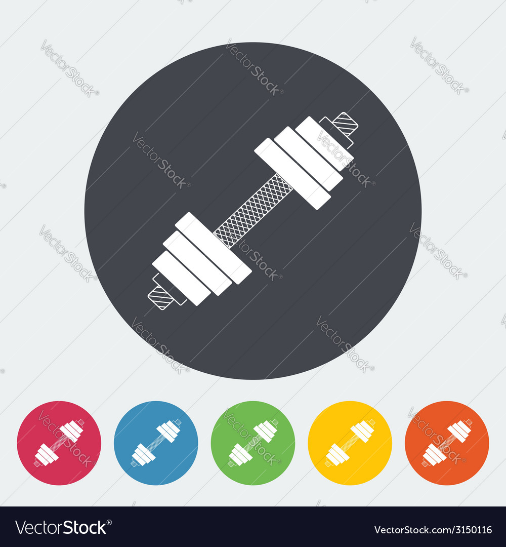 Dumbbell flat icon vector | Price: 1 Credit (USD $1)