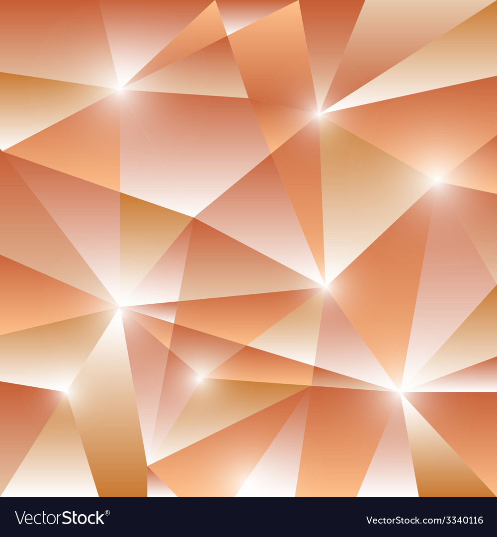 Geometric pattern with orange triangles background vector | Price: 1 Credit (USD $1)