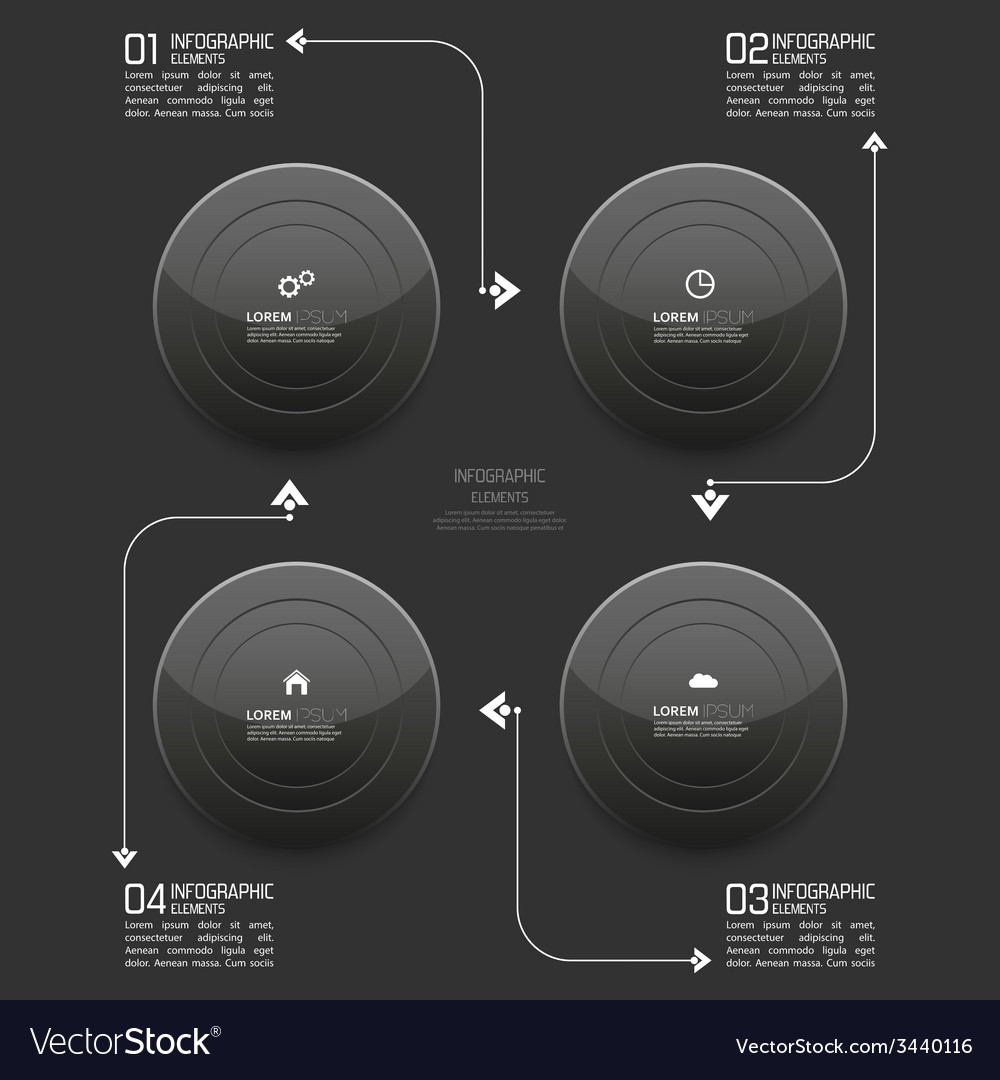 Glossy modern black plastic buttons with pointer vector | Price: 1 Credit (USD $1)