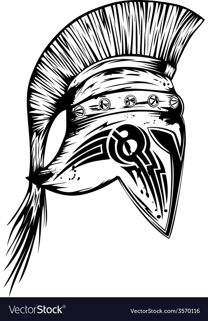 Legionary helmet vector | Price: 1 Credit (USD $1)