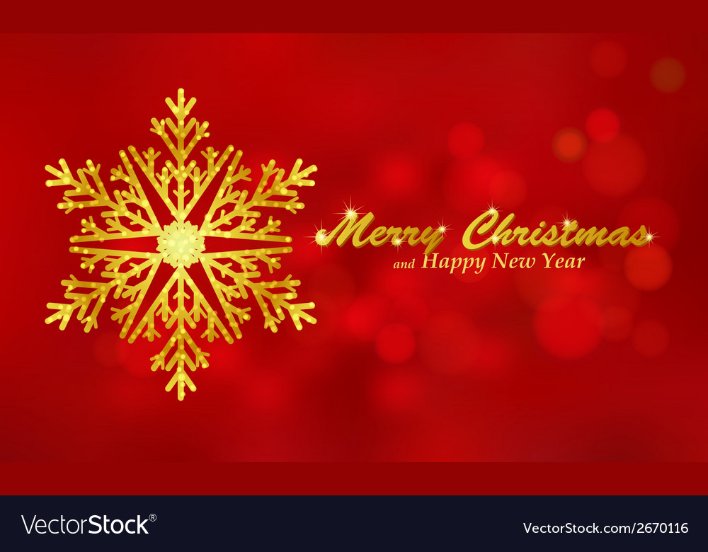 Merry christmas red background with snowflake vector | Price: 1 Credit (USD $1)