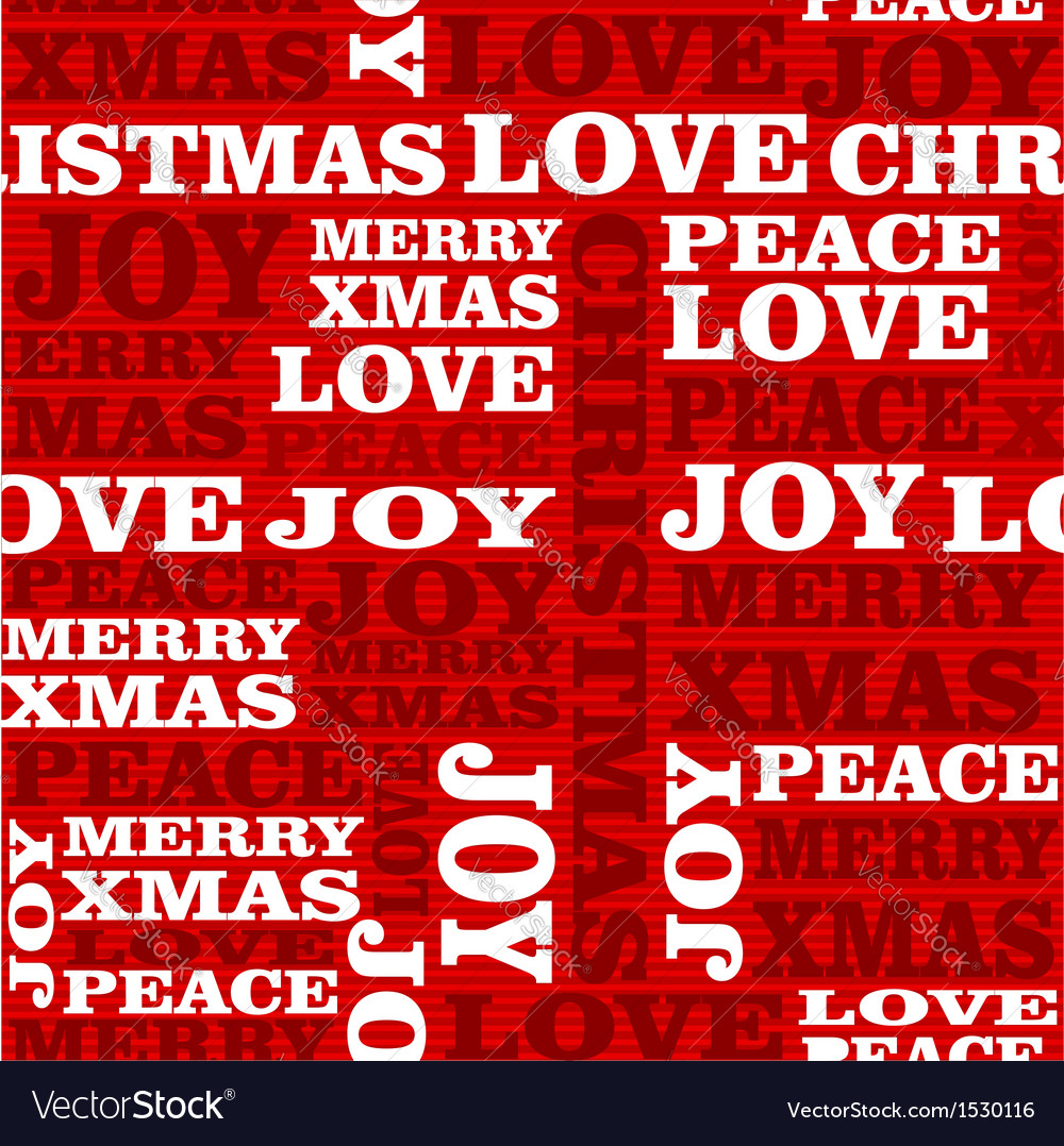 Merry christmas text seamless pattern vector | Price: 1 Credit (USD $1)