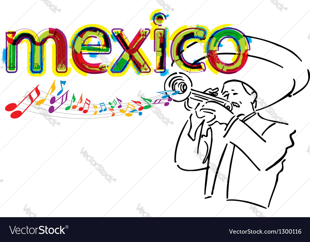 Mexican mariachi vector | Price: 1 Credit (USD $1)