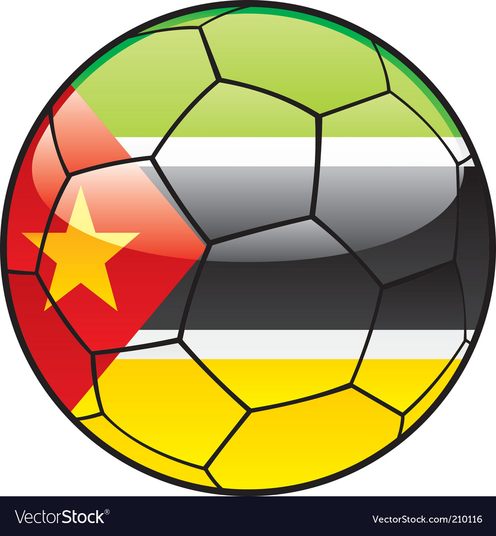 Mozambique flag on soccer ball vector | Price: 1 Credit (USD $1)