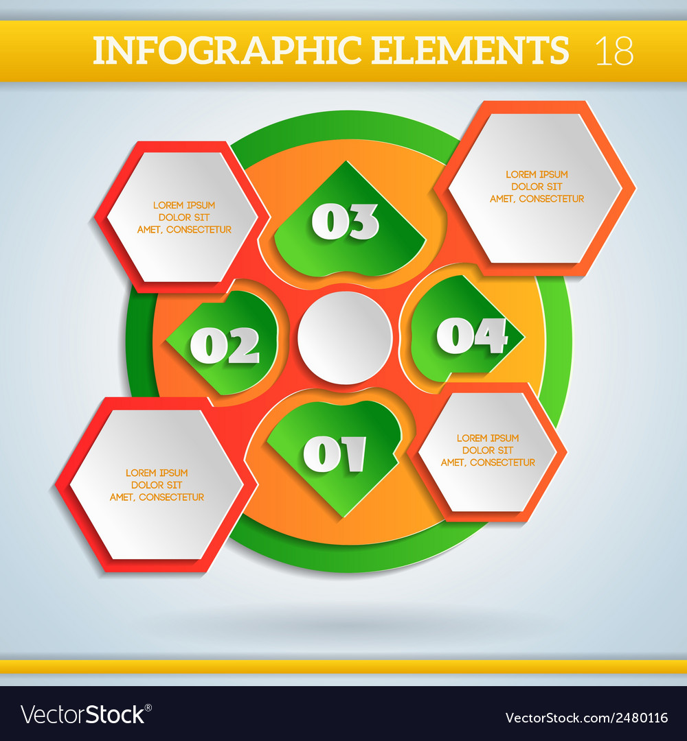 Paper info graphic colorful scheme with steps vector   Price: 1 Credit (USD $1)