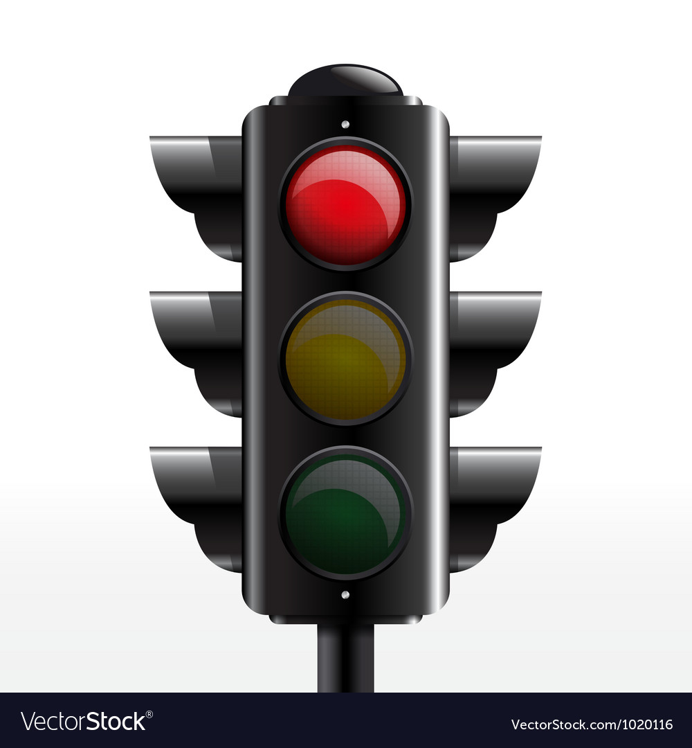 Traffic light red vector | Price: 1 Credit (USD $1)