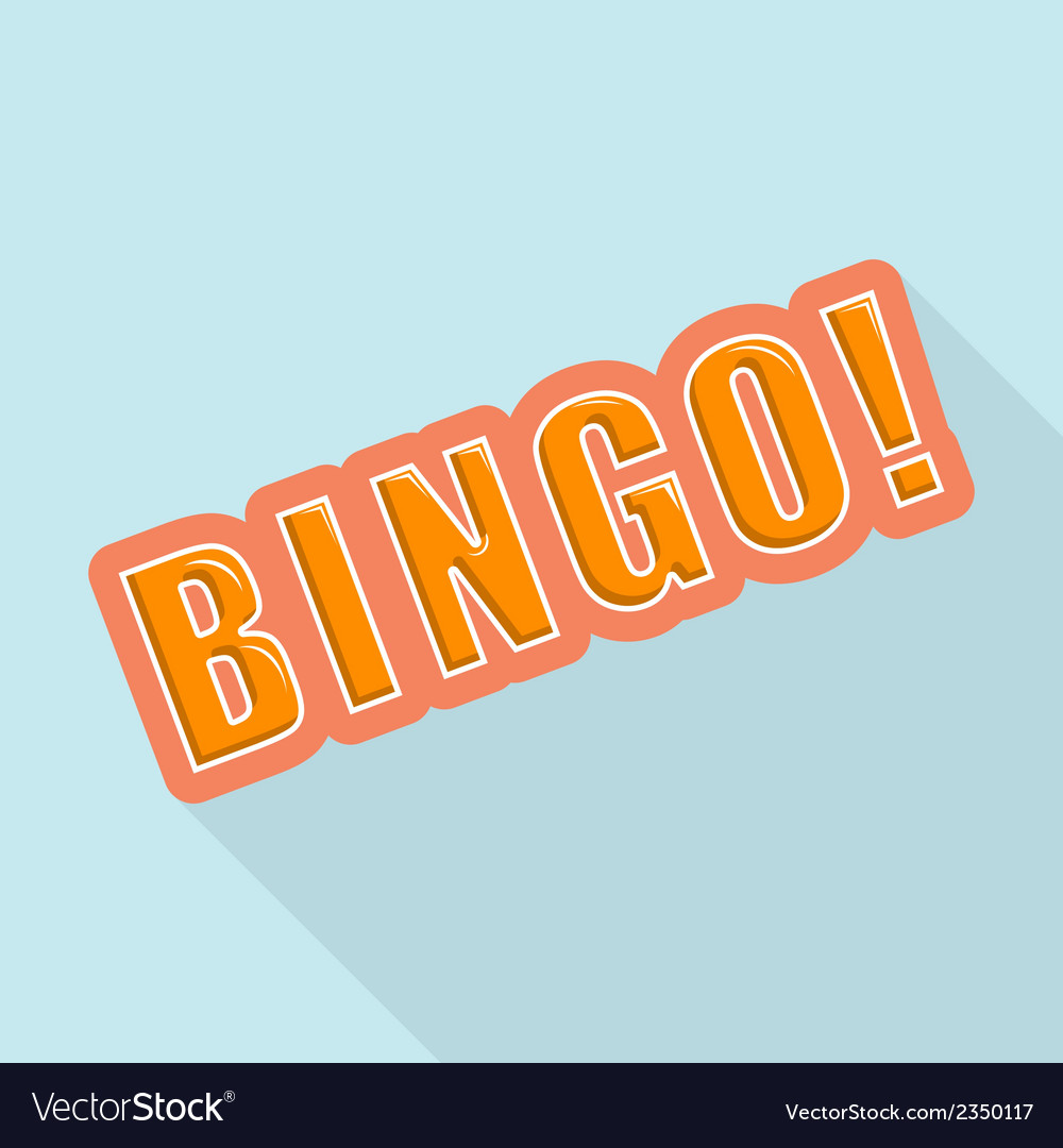 Cartoon bingo design element for the site vector | Price: 1 Credit (USD $1)
