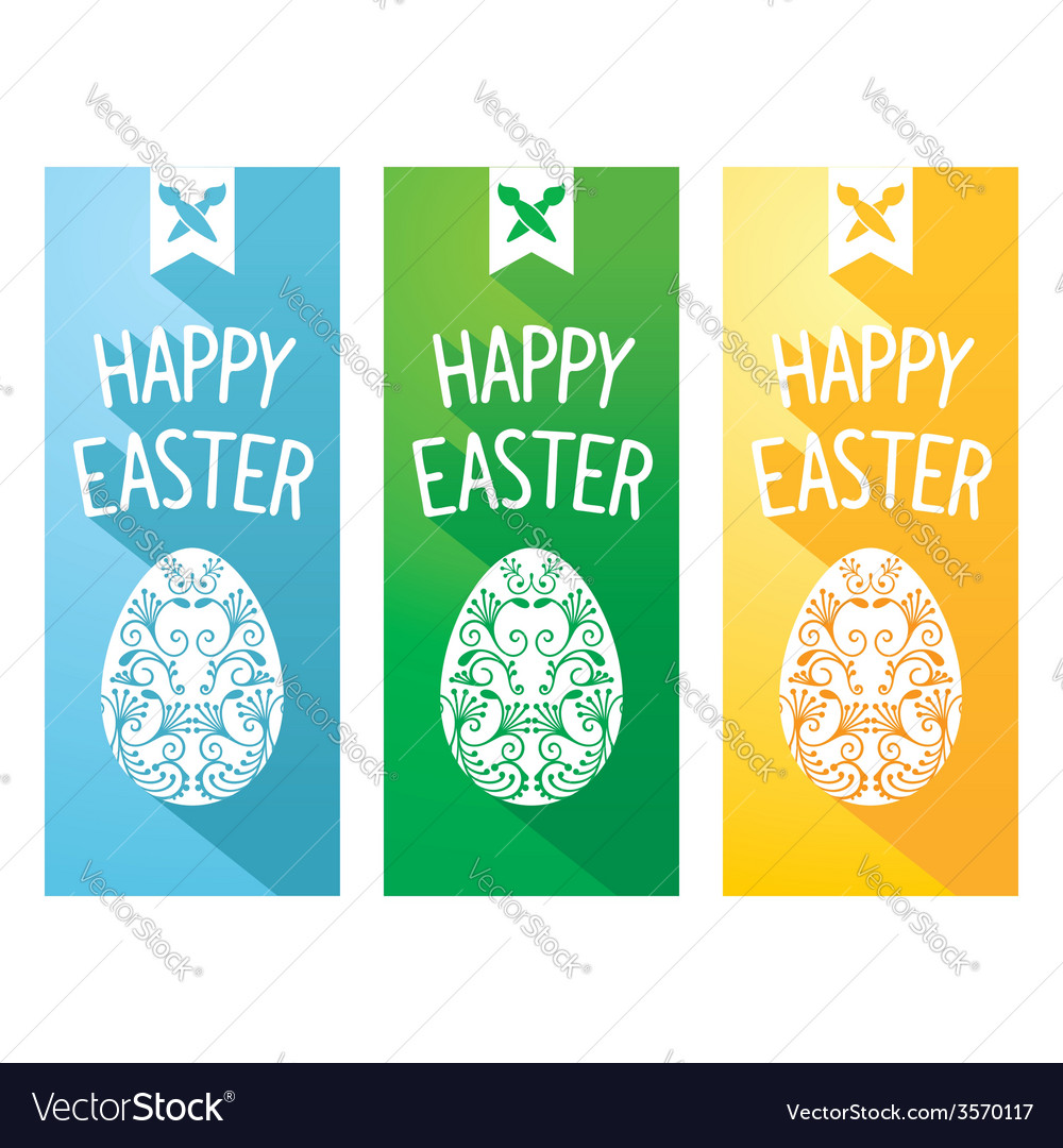 Easter flat flyer vector | Price: 1 Credit (USD $1)
