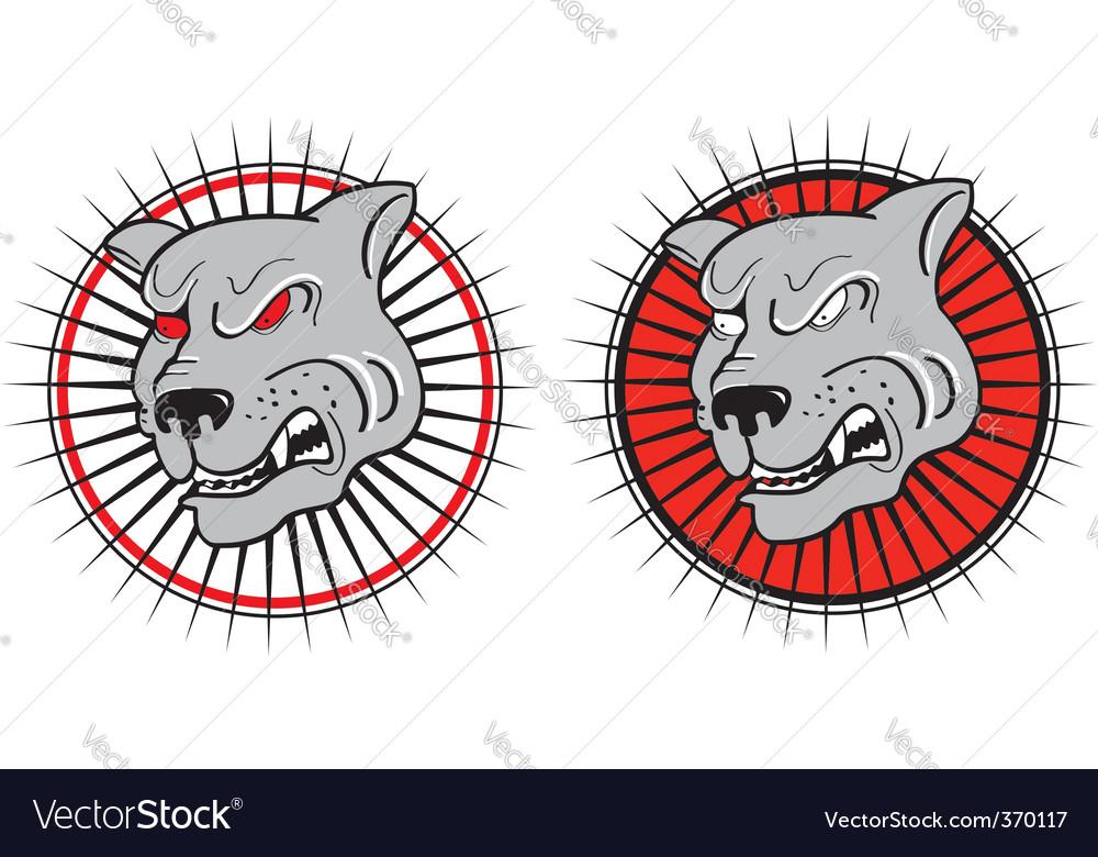 Evil dog vector | Price: 1 Credit (USD $1)