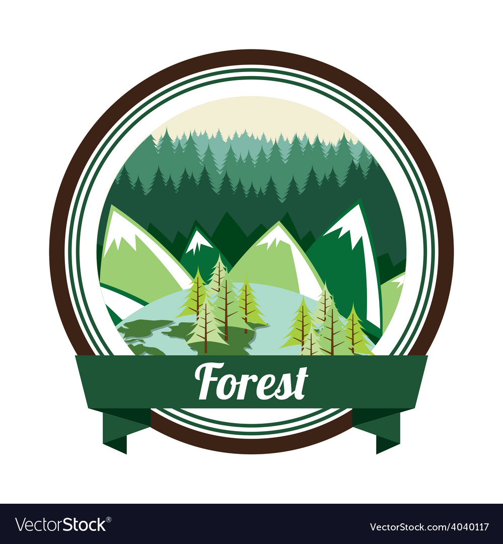 Forest landscape vector | Price: 1 Credit (USD $1)