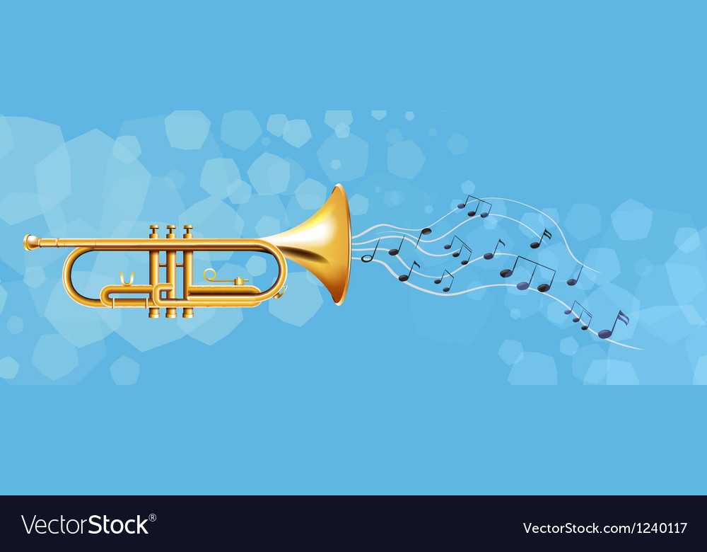 The golden trumpet vector | Price: 1 Credit (USD $1)