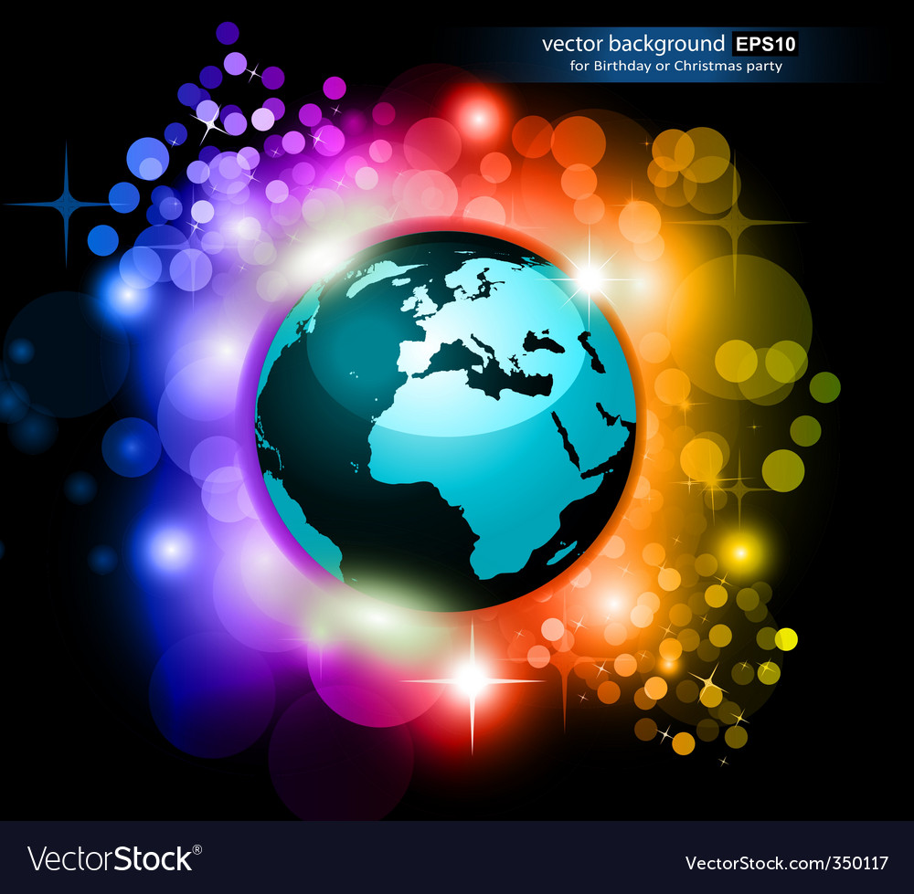 Rainbow earth future vector | Price: 1 Credit (USD $1)