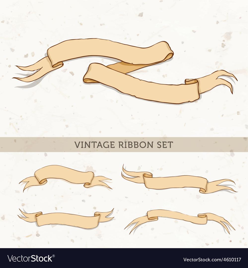 Vintage red ribbon vector | Price: 1 Credit (USD $1)