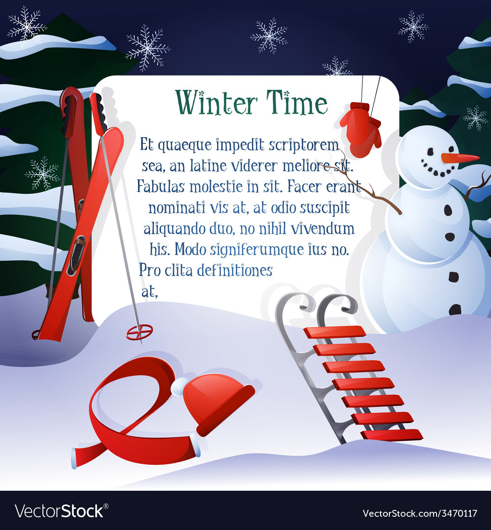 Winter time background vector | Price: 1 Credit (USD $1)