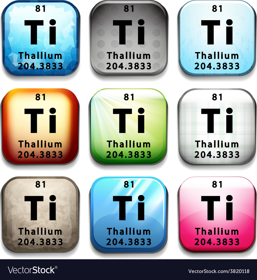 An icon with the chemical element thallium vector | Price: 1 Credit (USD $1)