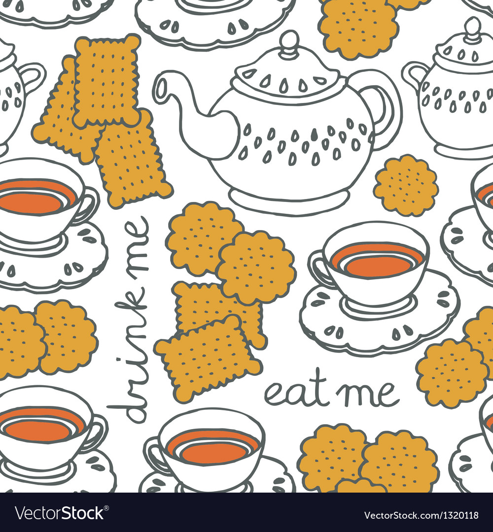 Biscuit and tea vector | Price: 1 Credit (USD $1)