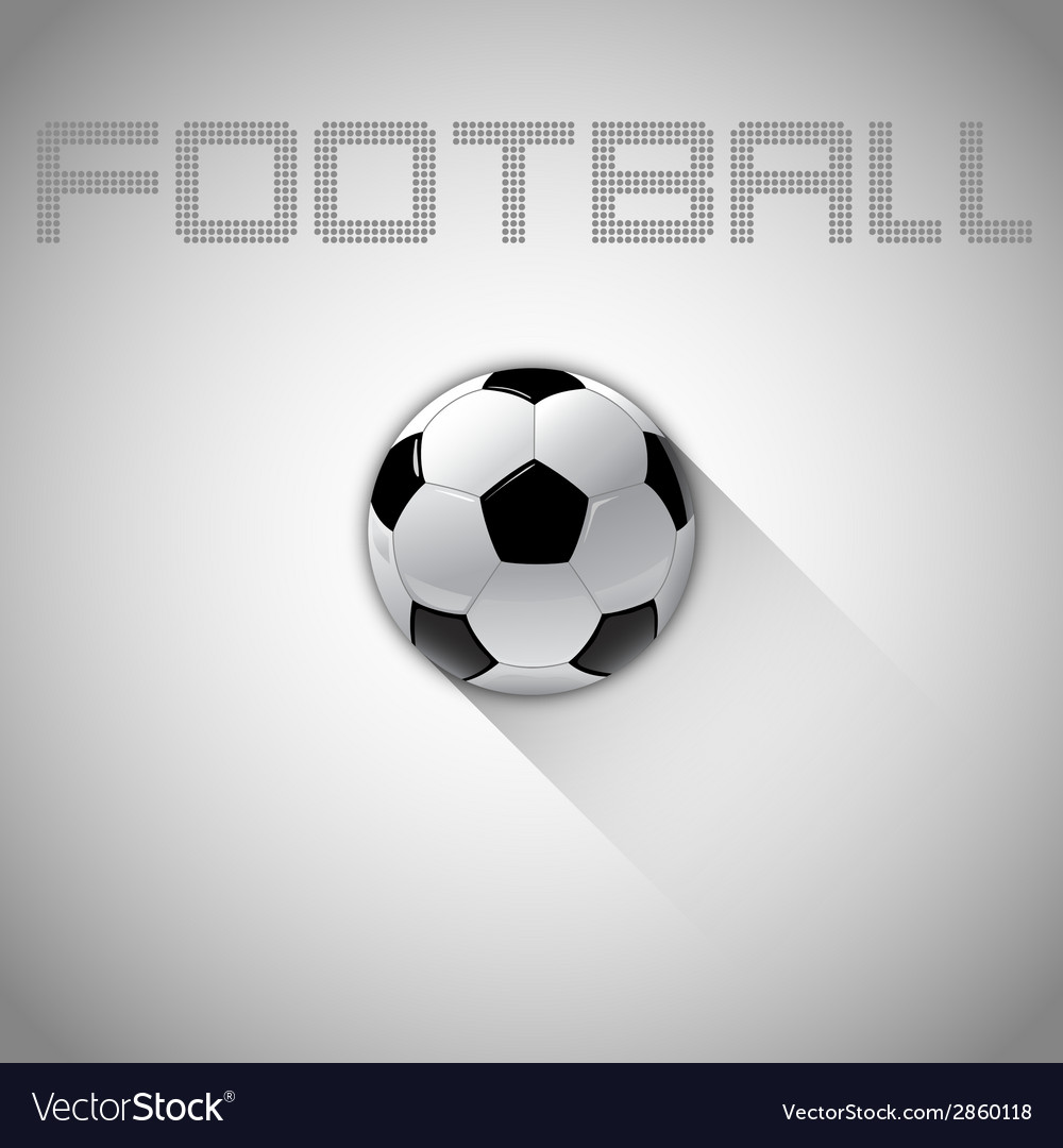 Football long shadow vector | Price: 1 Credit (USD $1)