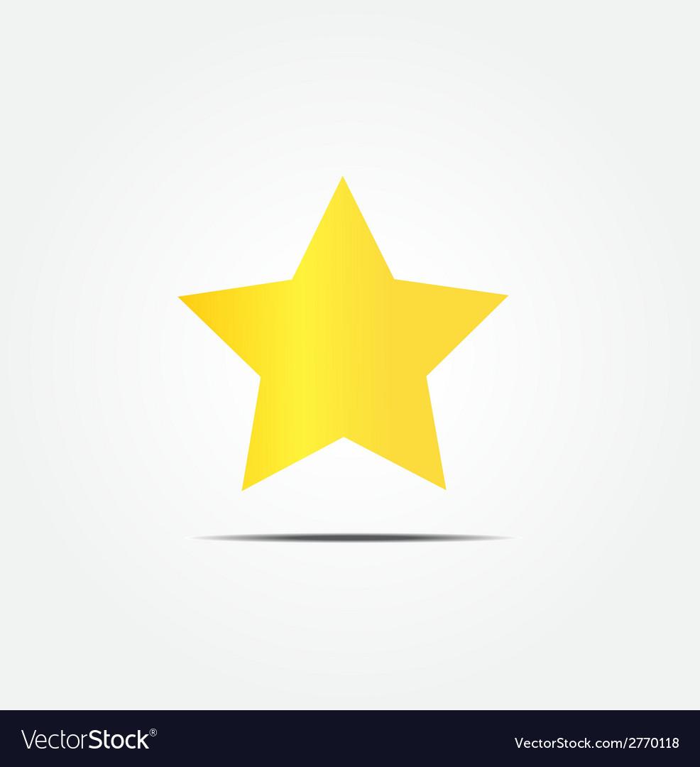 Gold star icon vector | Price: 1 Credit (USD $1)