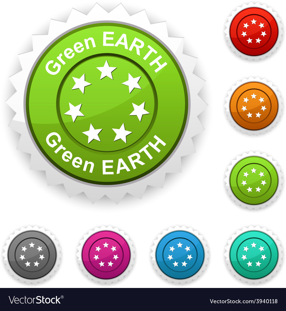 Green earth award vector | Price: 1 Credit (USD $1)