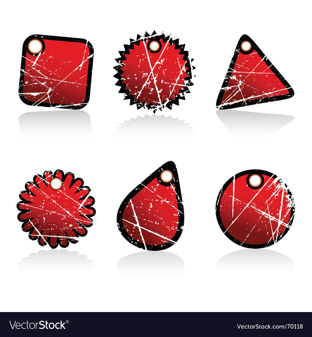 Grunge tags vector | Price: 1 Credit (USD $1)
