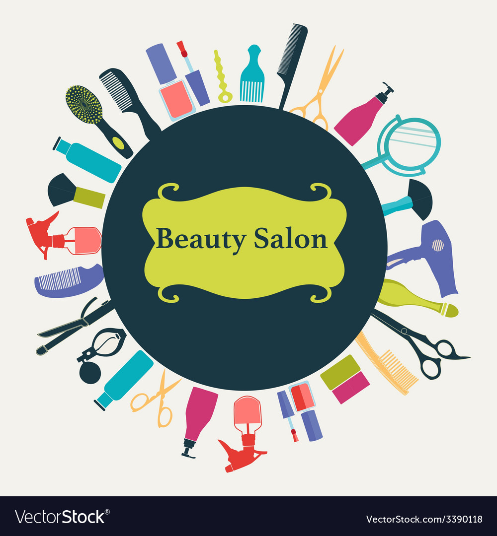 Hair beauty salon background- vector | Price: 1 Credit (USD $1)